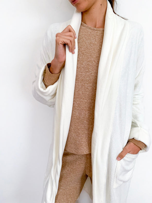 NIDRA LATTE ORGANIC COTTON BATH ROBE