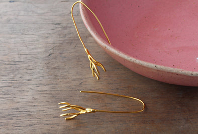 LA SEBASTIANA RAICES DE CEBOLLA RECYCLED SILVER 925 BATHED IN GOLD 18K Earrings
