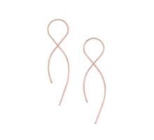 Load image into Gallery viewer, Fail 14K Rose Gold Filled Infinity Earrings