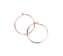 Load image into Gallery viewer, Fail Jewelry 14K Rose Gold Filled Medium Round Hoop Earrings