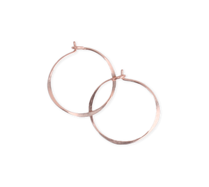 Fail Jewelry 14K Rose Gold Filled Medium Round Hoop Earrings