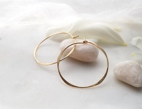 Fail Jewelry 14K Yellow Gold Filled Medium Round Hoop Earrings