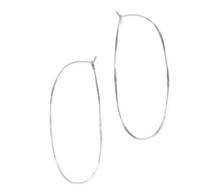 Load image into Gallery viewer, Fail Jewelry Sterling Silver Large Oval Hoop Earrings