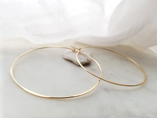 Fail Jewelry 14K Yellow Gold Filled Extra Large Round Hoop Earrings