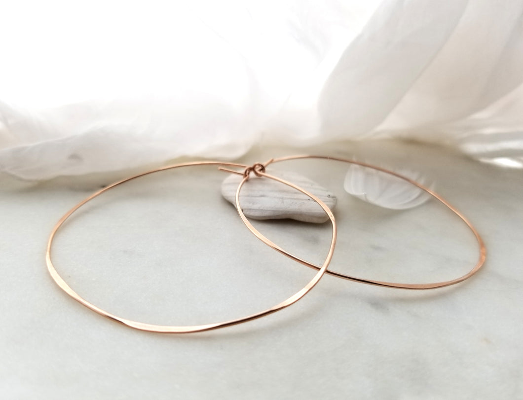 Fail Jewelry 14K Rose Gold Filled Extra Large Round Hoop Earrings