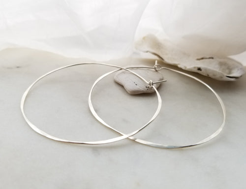 Fail Jewelry Sterling Silver Extra Large Round Hoop Earrings