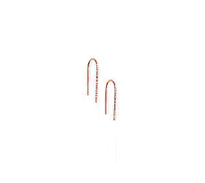 Fail Small 14K Rose Gold Filled Trace Hook Earrings