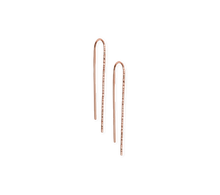 Load image into Gallery viewer, Fail Large 14K Rose Gold Filled Trace Hook Earrings