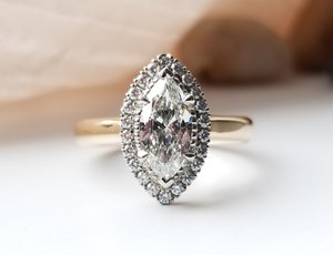 Modern Vintage Inspired Marquise Diamond Ring