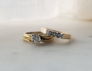 Modern Vintage Inspired Diamond Engagement Ring