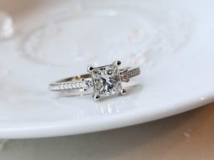 Classic Inspired Princess Cut Diamond Ring