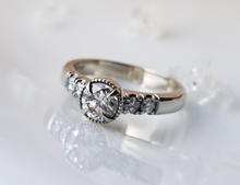 Load image into Gallery viewer, Modern Vintage Inspired Diamond Engagement Ring