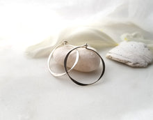Load image into Gallery viewer, Fail Jewelry Sterling Silver Small Round Hoop Earrings