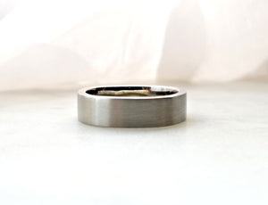 Gents Concept 6mm White Gold Band