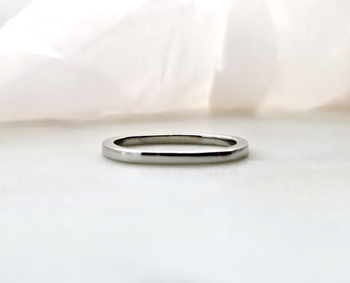 Gents Concept 2mm White Gold Band