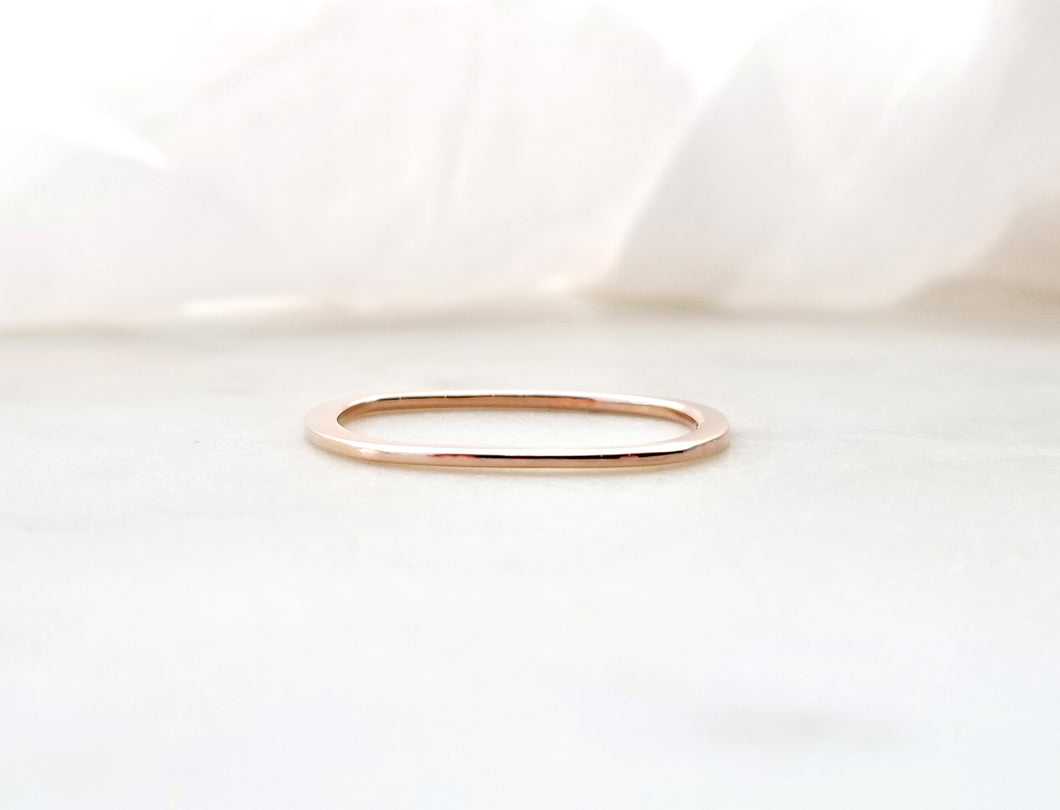 Gents Concept 1mm Rose Gold Band