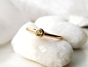 Family Concept Yellow Sapphire Ring