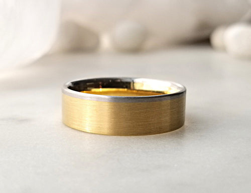 Christian Bauer Yellow Gold And Platinum Band