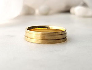 Christian Bauer Yellow Gold Three Ridges Band