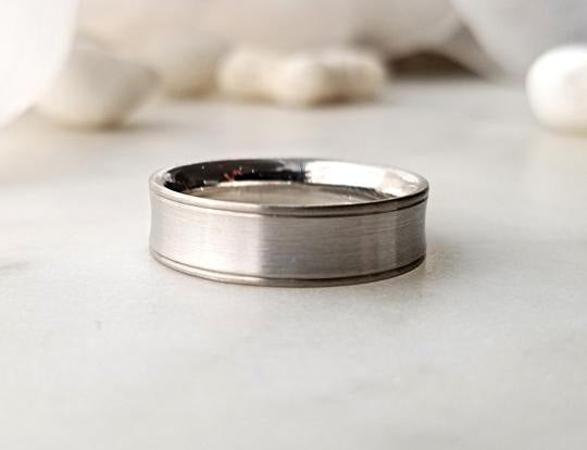 Christian Bauer Platinum and White Gold Band