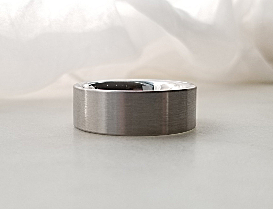 Carl Dau Stainless Steel Plain Comfort Fit Band