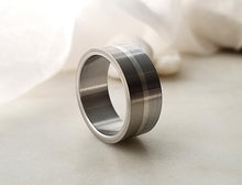 Load image into Gallery viewer, Carl Dau Sterling Silver, Titanium And Stainless Steel Band