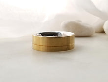 Load image into Gallery viewer, Carl Dau 18K Yellow Gold And Sainless Steel Comfot Fit Band