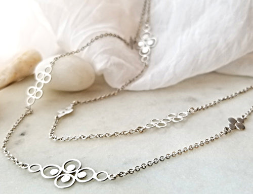 Ananda Khalsa Sterling Silver Filigree Chain Necklace