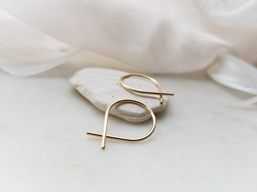 Fail Jewelry 14K Yellow Gold Filled Small Fish Earrings