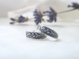 "Marmalade Designs Sterling Silver ""Lavender"" Botanical Earrings"