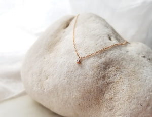 Jen Leddy Rose Gold Petite Diamond Necklace