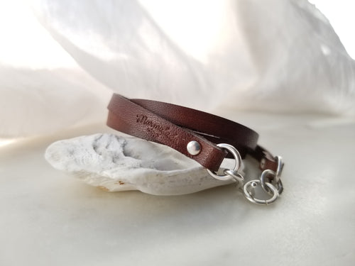 Marmalade Designs Chocolate Leather Wrap Bracelet