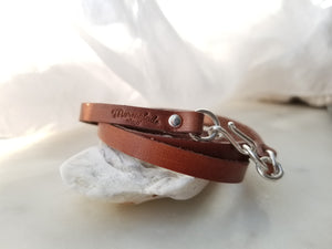 Marmalade Designs Saddle Brown Leather Wrap Bracelet