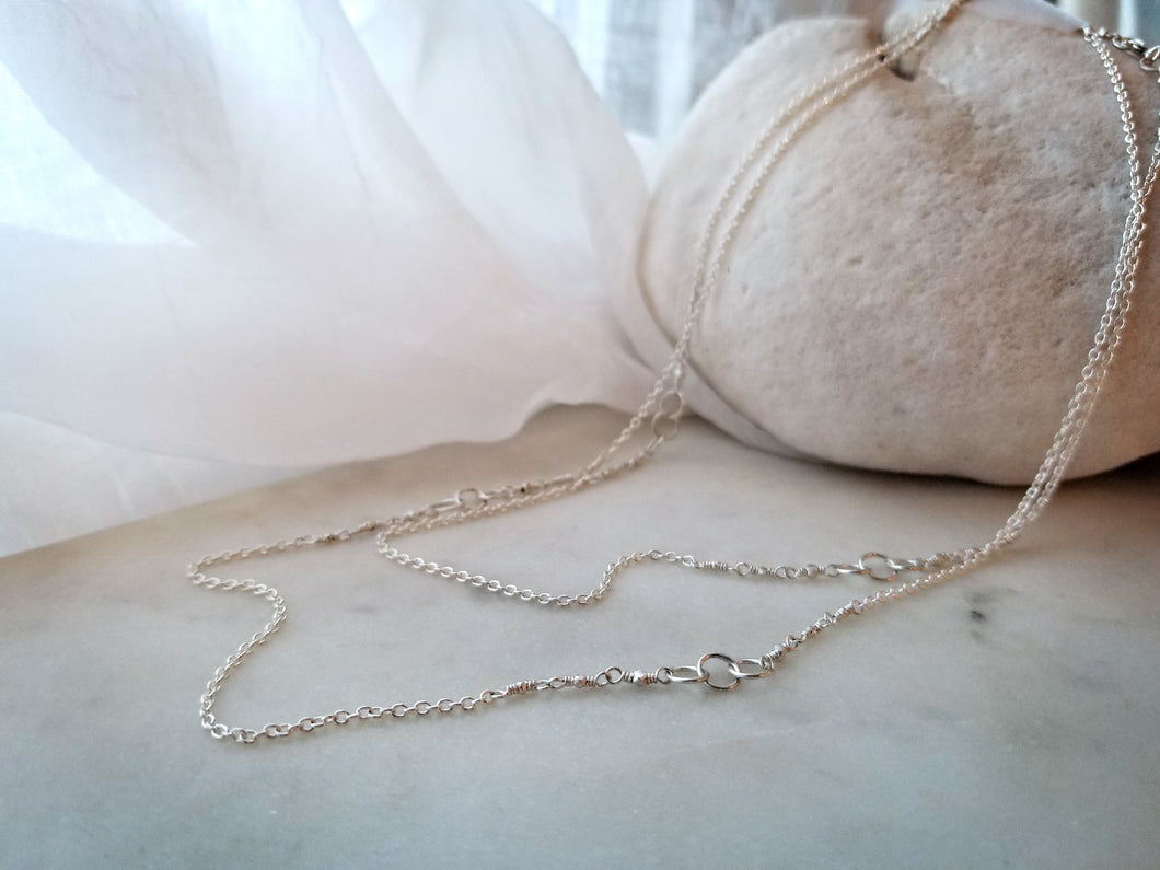 Jen Leddy Sterling Silver Three Circle Chain
