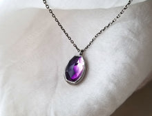 Load image into Gallery viewer, Jen Leddy Silver Amethyst Necklace