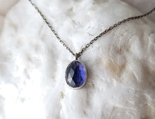 Load image into Gallery viewer, Jen Leddy Silver Iolite Necklace
