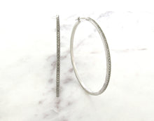Load image into Gallery viewer, Classic Concept Large Diamond Hoops