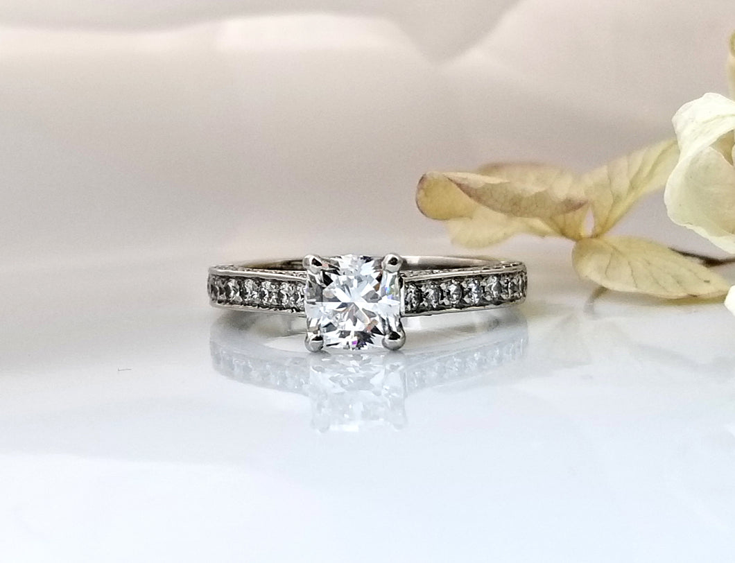 Classic Concept Pave Diamond Engagement Ring