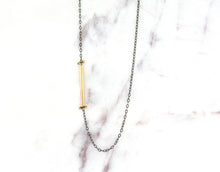 Load image into Gallery viewer, Melissa Joy Manning Gold Bar Necklace