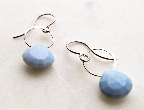 Melissa Joy Manning Blue Opal Drop Earrings