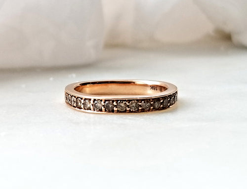 Contemporary Concept Band with Natural Brown Diamonds