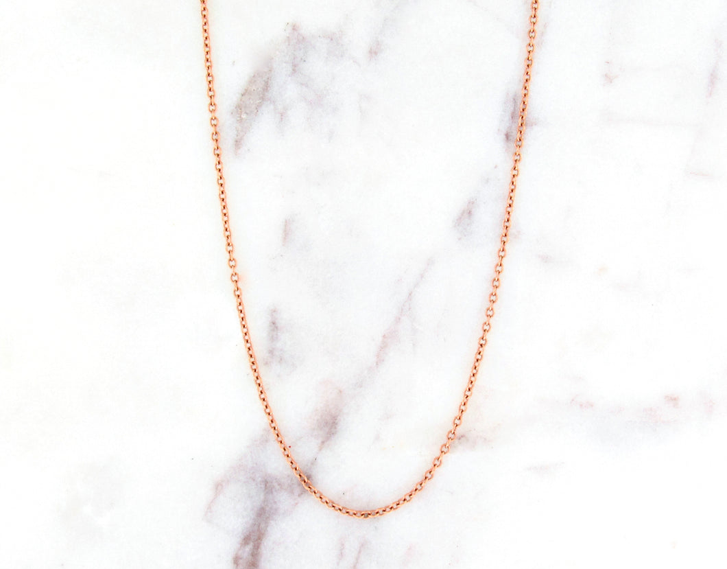 16 Inch 14K Rose Gold Chain