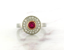 Load image into Gallery viewer, Contemporary Concept Two Tone Ruby Ring