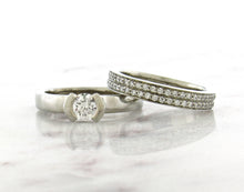 Load image into Gallery viewer, Contemporary Concept White Gold Diamond Engagement Ring