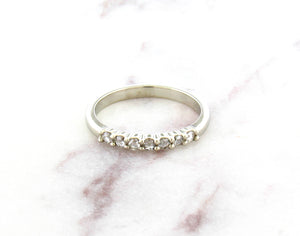 Modern Vintage Concept Rose Cut Diamond Band