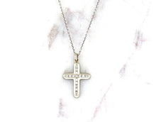 Load image into Gallery viewer, Modern Concept Diamond Cross Pendant