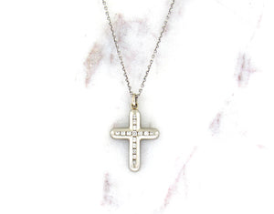 Modern Concept Diamond Cross Pendant