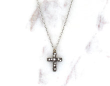 Load image into Gallery viewer, Modern Vintage Concept Caviar Cross Necklace