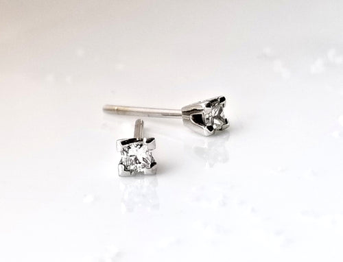 Classic Concept Mini Princess Diamond Stud Earrings