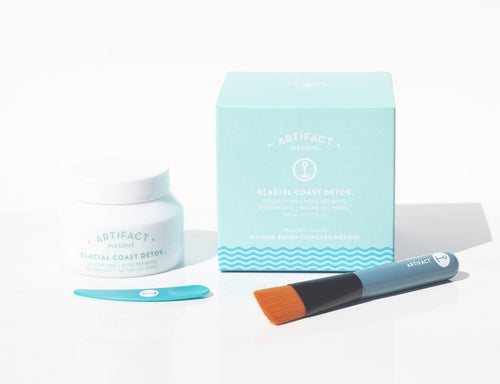 Artifact Skin Co. Glacial Coast Detox Masque + Brush Kit